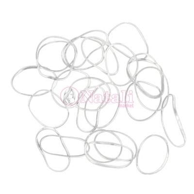 ccf85627b53a Резинки для волос DEWAL силиконовые, белые mini (100 шт/уп)